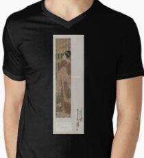 Nihonzutsumi o miru yūjo 001 Men's V-Neck T-Shirt
