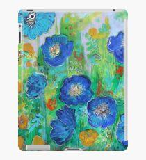 Blue Poppy Garden iPad Case/Skin