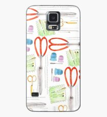 Notions - Scissors and Tools Case/Skin for Samsung Galaxy