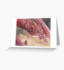 The Temptation of Smaug Greeting Card