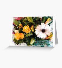 "BIRTHDAY BOUQET 2013 2 BIBLE VERSE ""JOY"" Greeting Card"