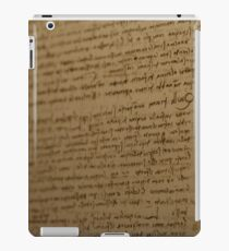 Leonardo Da Vinci Writing iPad Case/Skin