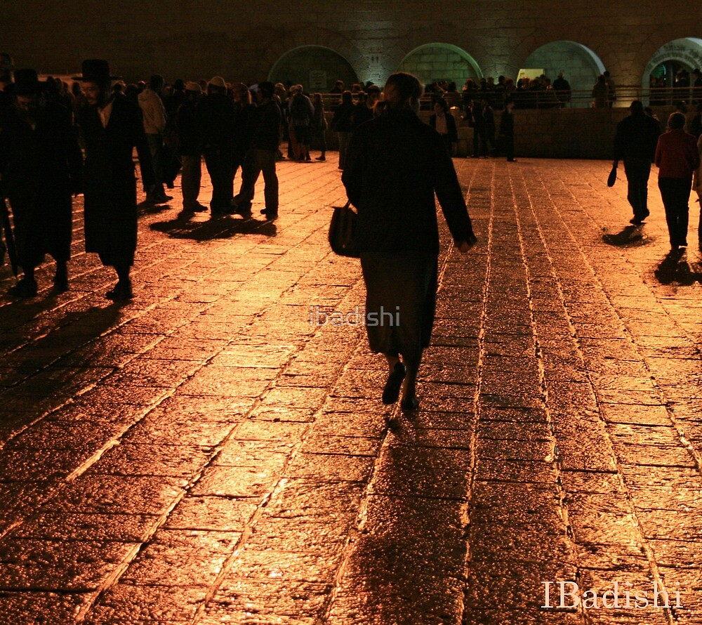 The Entrance to the Western Wall at Night by ibadishi