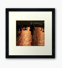 The Entrance to the Western Wall at Night Framed Print