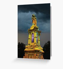 Stormy Tower in Yellow Greeting Card