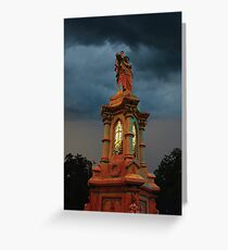 Stormy Tower in Red Greeting Card