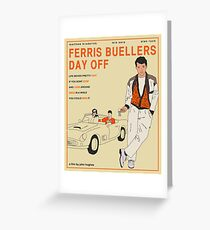 Ferris Buellers Day Off Greeting Card