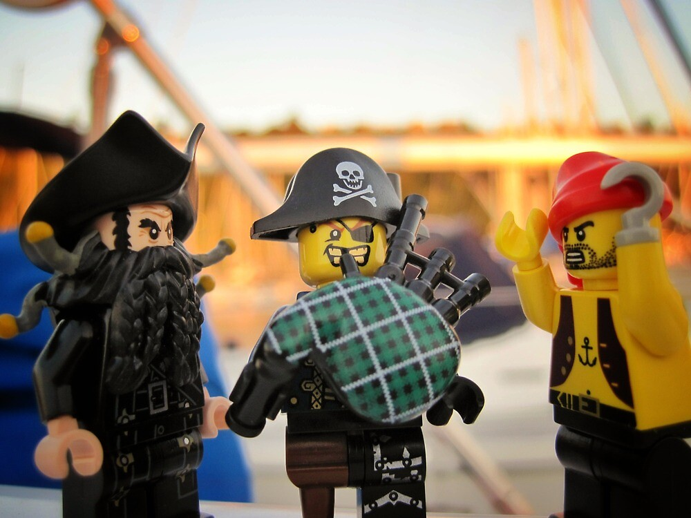 Pirate Practice: Bagpipe Playing by bricksailboat