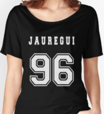 JAUREGUI - 96 // White Text Women's Relaxed Fit T-Shirt