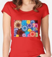 Flowers! Women's Fitted Scoop T-Shirt