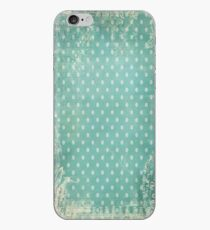 Vintage Worn Turquoise Wallpaper iPhone Case