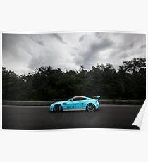 Aston Martin Vantage V12 on goldRush Rally Poster