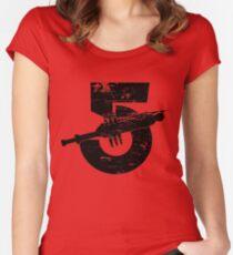 Babylon 5 Vintage (Black) Women's Fitted Scoop T-Shirt