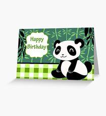 """Happy Birthday"" Cute Panda Greeting Card"