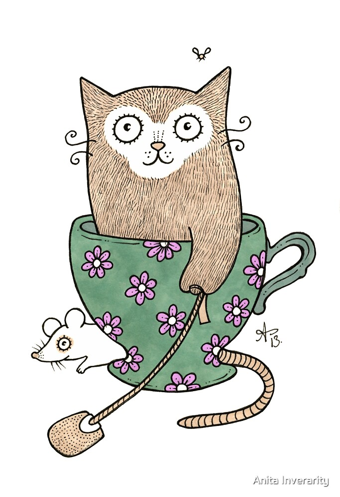 Cuppa Cat by Anita Inverarity