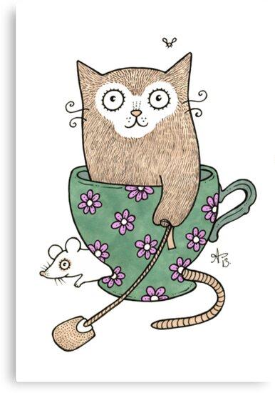 Cuppa Cat by Anita Inverarity
