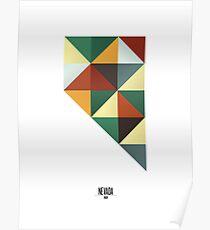 Nevada Geometric Poster