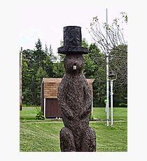 Groundhog statue Photographic Print