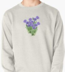 D1G1TAL-M00DZ ~ FLORAL ~ Cornflowers with Bees by tasmanianartist Pullover