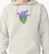 D1G1TAL-M00DZ ~ FLORAL ~ Cornflowers with Bees by tasmanianartist Pullover Hoodie