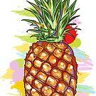 Pineapple Illustration by artonwear