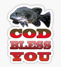 Cod Bless You Sticker