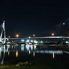 Anzac Bridge at Night by Lorraine Creagh
