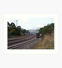 Steam Loco 3265 & Endeavour DMU - East Maitland NSW Art Print