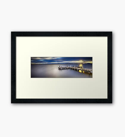 Romancing The Jetty Framed Print