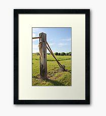 Rope Fence Framed Print
