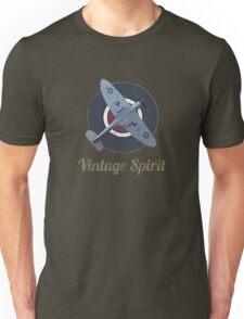 RAF Fighter Vintage Spirit Spitfire Logo Graphic Unisex T-Shirt