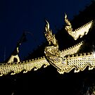 Serpent Finials Chiang Mai by Duane Bigsby