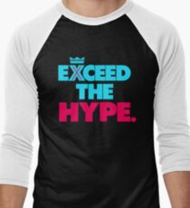 "VICTRS ""Exceed The Hype"" Men's Baseball ¾ T-Shirt"