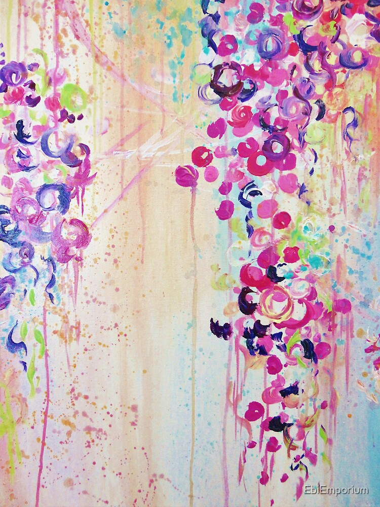 Cherry Blossoms Abstract Canvas Art