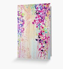 Fleeting greeting cards redbubble dance of the sakura pretty cherry blossoms japanese floral whimsical abstract acrylic painting greeting m4hsunfo