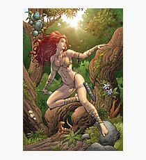Redhead Cavewoman in Jungle by Al Rio Photographic Print