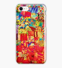 PAINTING THE SOUL - Vibrant Collage Mixed Abstract Acrylic Watercolor Painting Rainbow Colorful Collage Fine Art iPhone Case/Skin