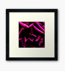 Color Abstract Rose Framed Print