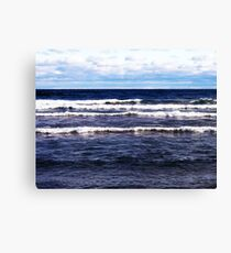 Lake Superior White Caps Canvas Print