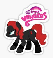 My Little Venger: Black Widow Sticker