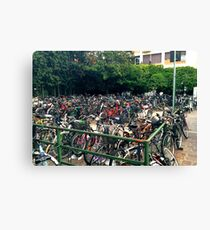 Bike Multitude Canvas Print