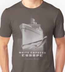 Canadian Pacific White Empress Poster T-Shirt