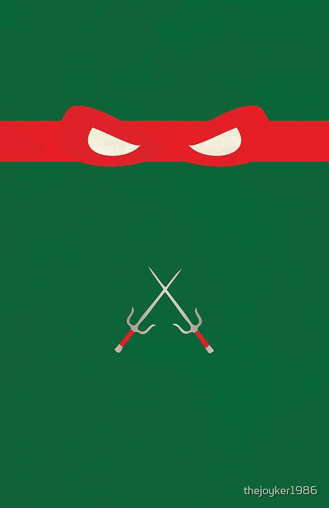 Red Ninja Turtles Raphael by thejoyker1986