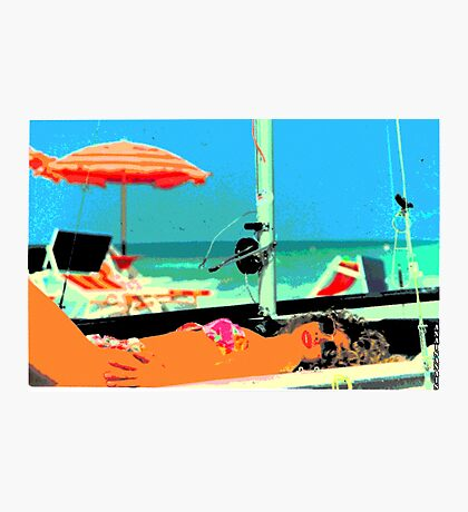 Pop summer with Wislawa Szymborska...(For this year you do not change...same boat same sea!!) Photographic Print