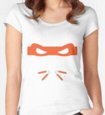 Orange Ninja Turtles Michelangelo Women's Fitted Scoop T-Shirt