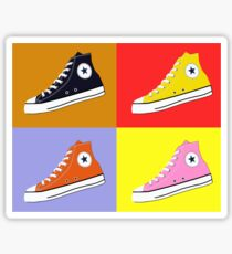 Pop Art All Star Inspired Hi Top Sneaker Sticker