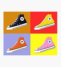 Pop Art All Star Inspired Hi Top Sneaker Photographic Print