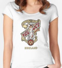 Classic British Motorcycle Emblem - Velocette Maiden Women's Fitted Scoop T-Shirt