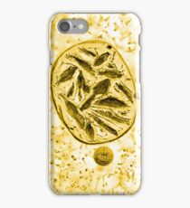 Ice bubbles inverted gold iPhone Case/Skin