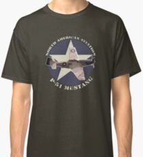 Vintage Look North American Aviation P-51 Mustang Fighter Classic T-Shirt
